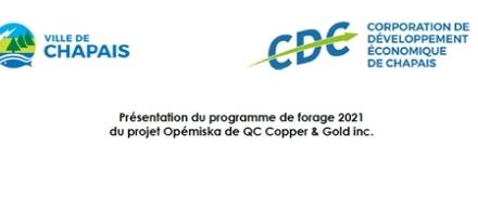 Présentation du programme de forage 2021 de QC Copper & Gold